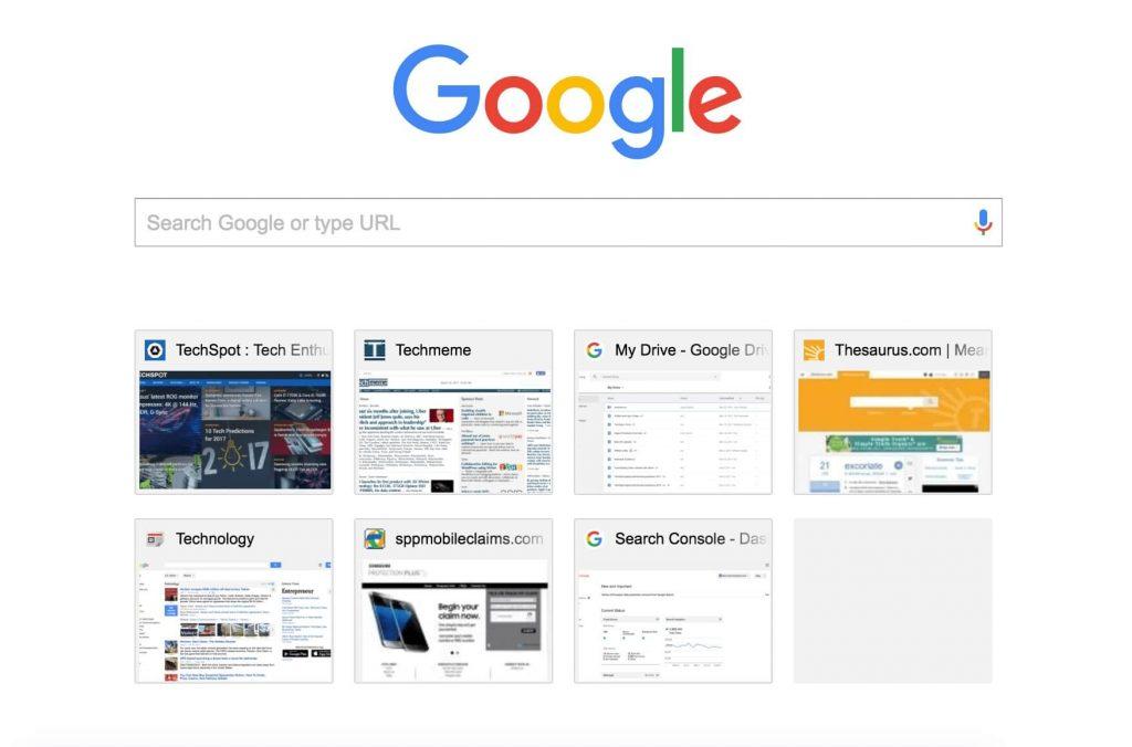 Настройка новой вкладки в Chrome