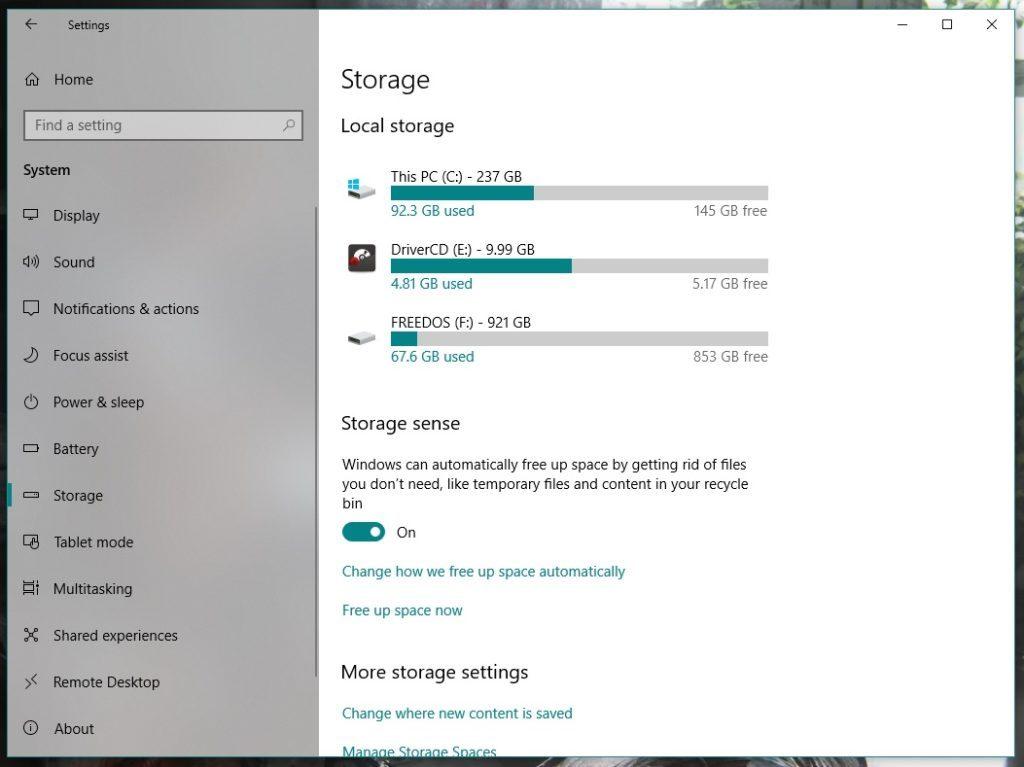 Как освободить 40 ГБ места на диске после последнего обновления Windows 10