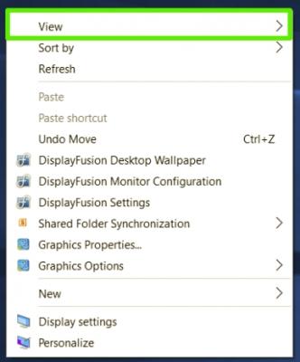 Как изменить размер ярлыков на рабочем экране в Windows 10