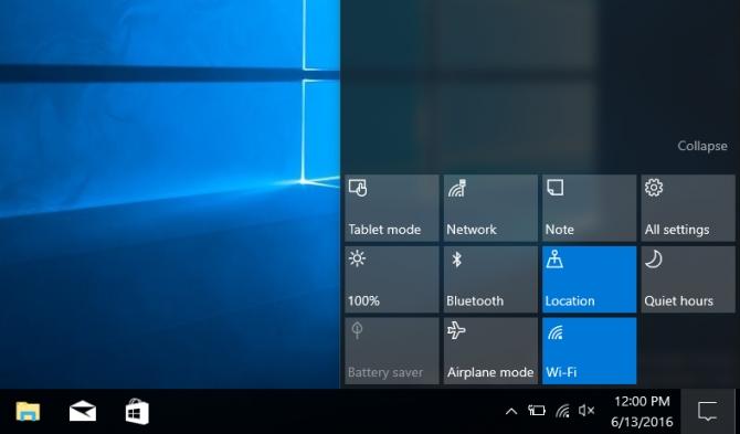 Как настроить Action Center (Центр действий) в Windows 10