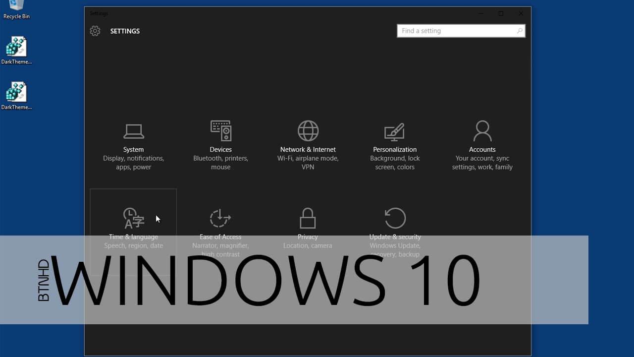 Как на Windows 10 включить темную тему
