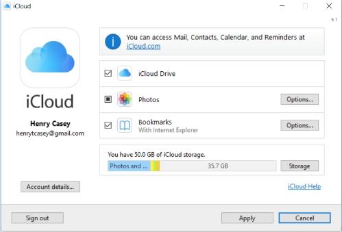 Как настроить и использовать iCloud в Windows