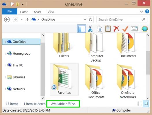 Как контролировать, какие файлы OneDrive доступны в автономном режиме