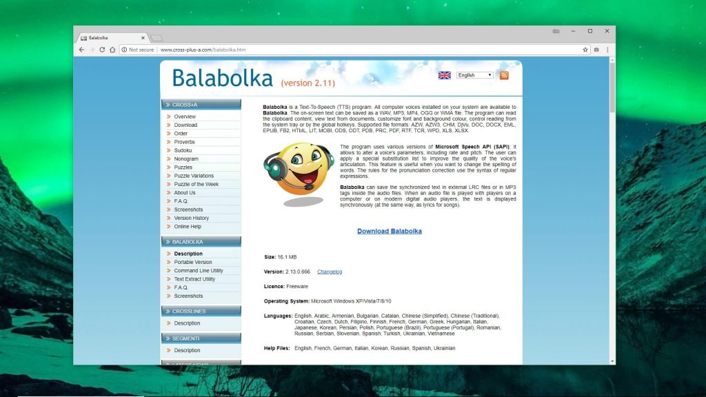 Скачайте Balabolka