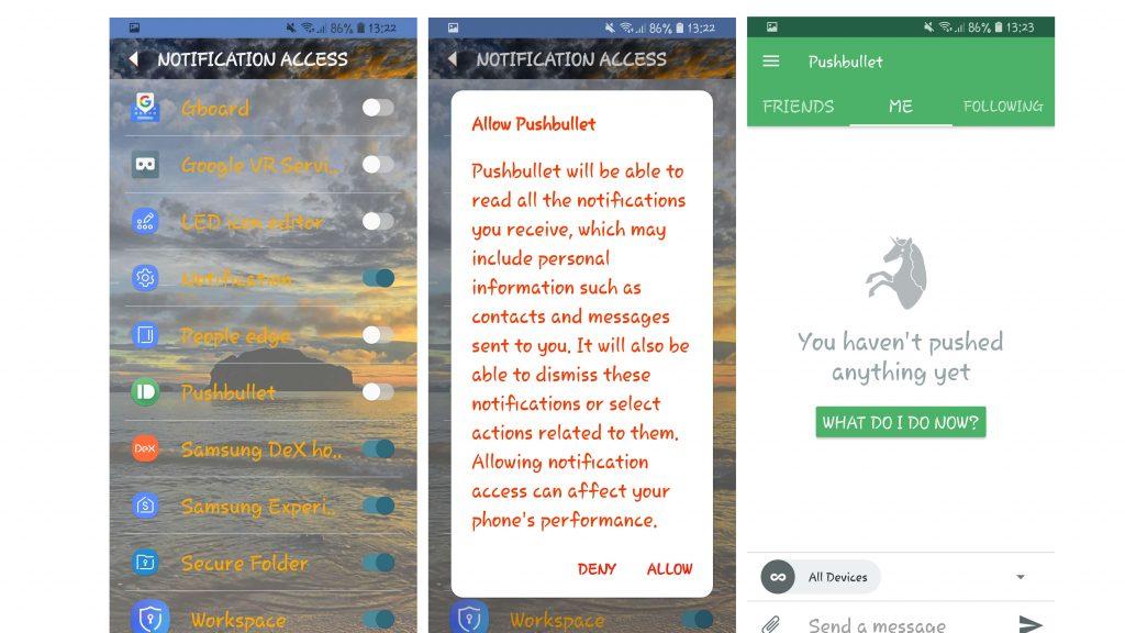 Установка Pushbullet на Android