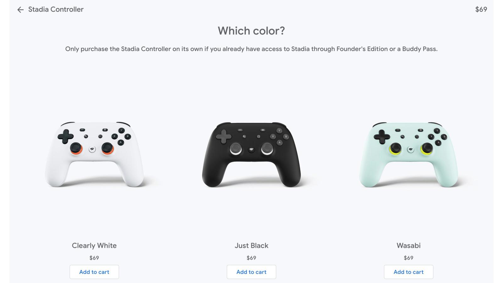 Теперь вы можете купить контроллер Google Stadia отдельно