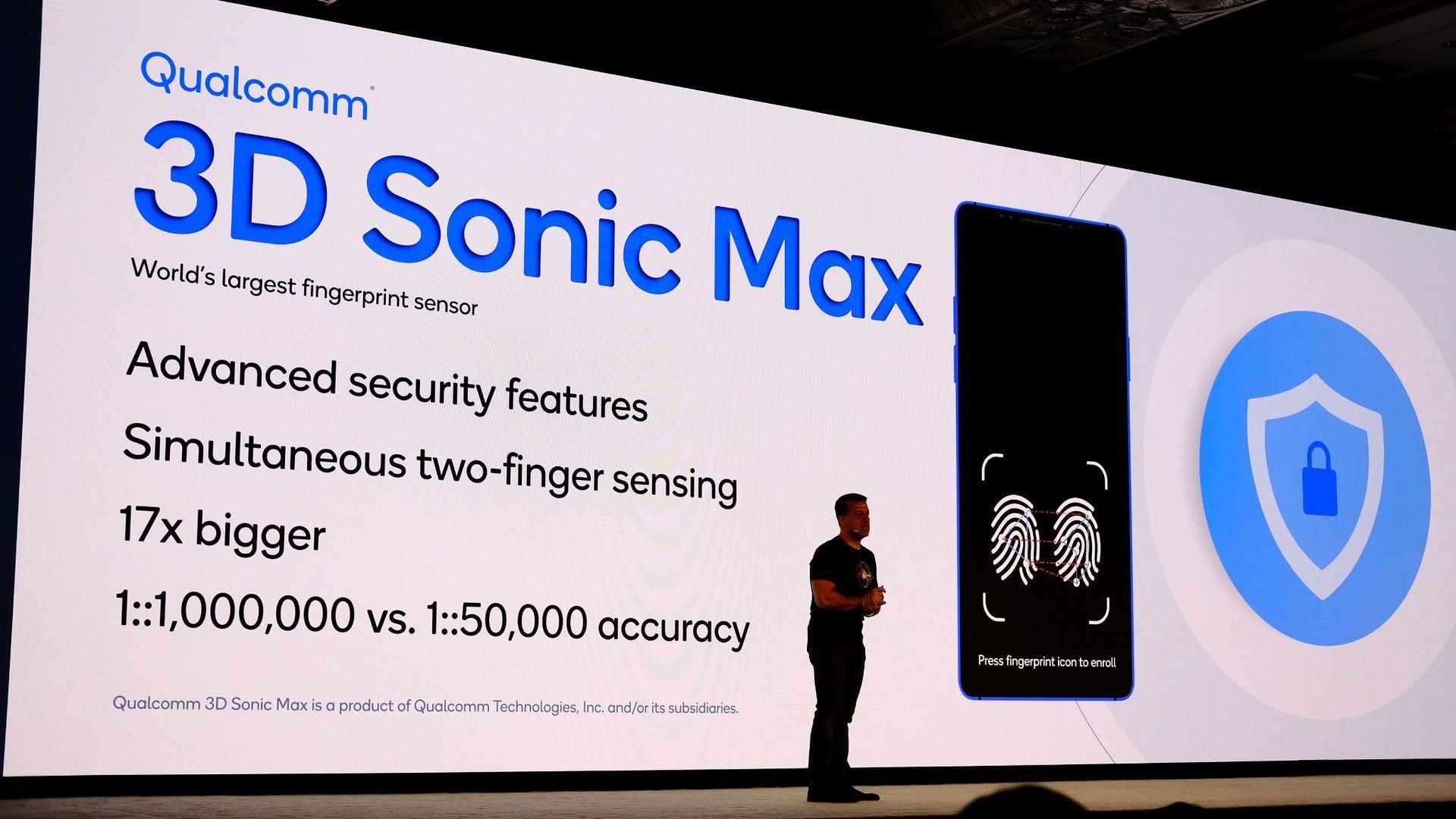Новый датчик отпечатков пальцев от Qualcomm намного больше предыдущих версий